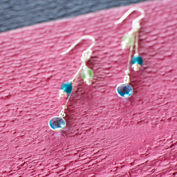 Flavin Street Earrings - Jelly Bean Row