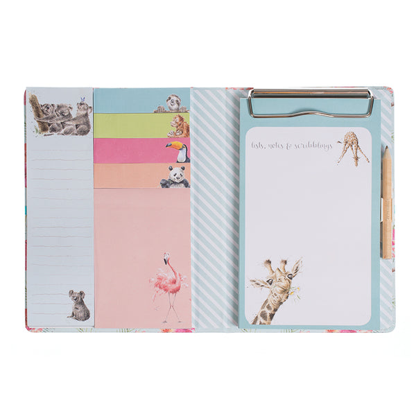 Wrendale Sticky Note Book - Zoology Set