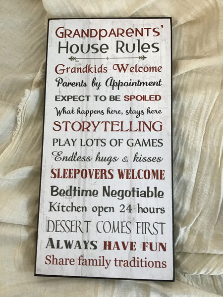 Grandparents' House Rules