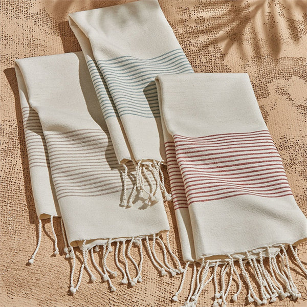 Cottage Hand-Loomed Striped Hand Towel