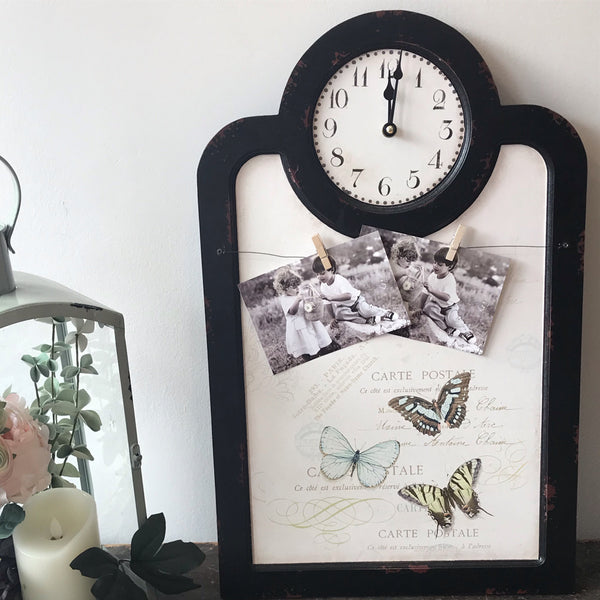 Clock and Photo/Message Boards