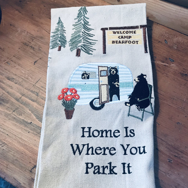 Home is Where You Park It Dishtowel