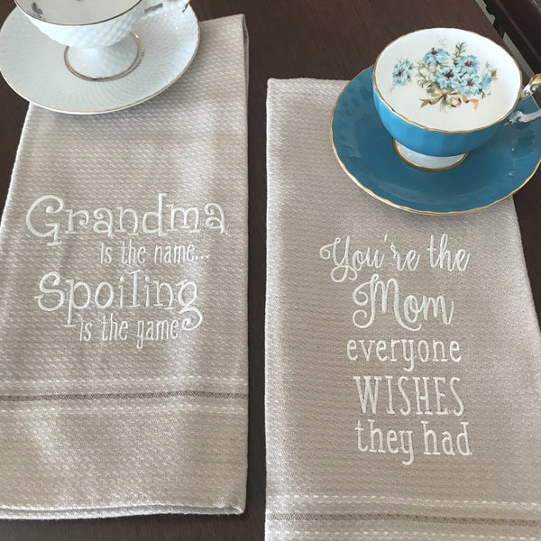 Embroidered Dishtowels