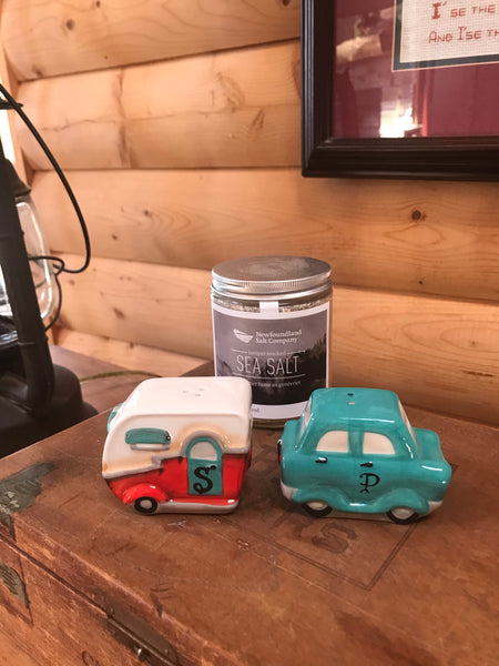 Car and Trailer Salt and Pepper