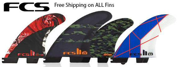 Free Shipping on all online Fin Orders. Surf World