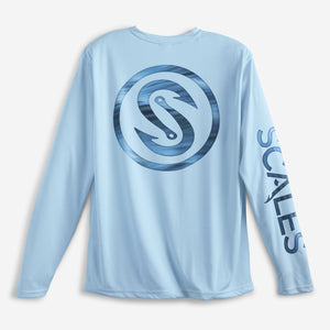 SCALES Hooks Waves Performance Shirt - Light Blue SURF WORLD