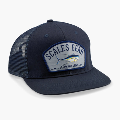 SCALES Fish the Rip Trucker Hat  - Navy