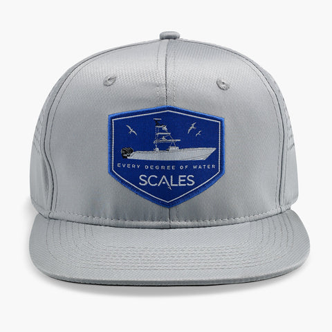 SCALES Throttles Down Pro Snapback Hat  - Cool Grey