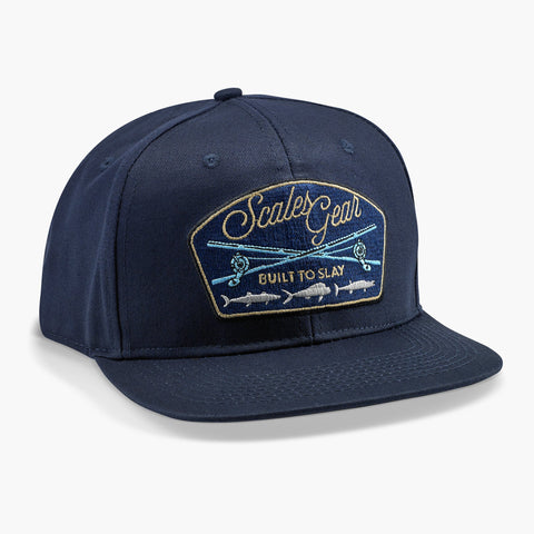 SCALES In The Meat Snapback Hat  - Navy