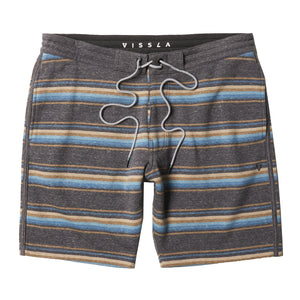 "Vissla Funner Stripe 18.5"" Sofa Surfer Mens Shorts - Dark Naval Heather"