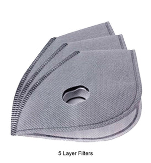 "Cycle Mask Filters for Face Masks with removable filters 3 - 6 -9 pack  ""IN STOCK """