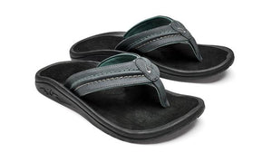 Olukai Hokua Mens Sandals - Dark Shadow Black SURF WORLD