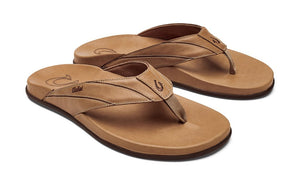 Olukai Pikoi Mens Leather Sandals - Golden Sand /Golden Sand SURF WORLD