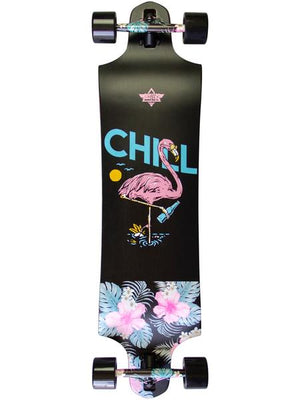 "Dusters Chill 38"" Drop-Thru Longboard Complete - Black"