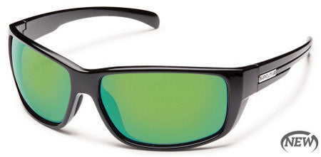 Suncloud Milestone Black/ Green Mirror Polarized Sunglasses SMIPPGYMB - SURF WORLD Florida