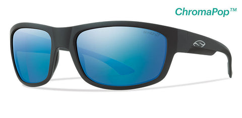 Smith  Dover Matte Black ChromaPop Polarized Blue Mirror Sunglasses DRRPUGMMB - SURF WORLD Florida