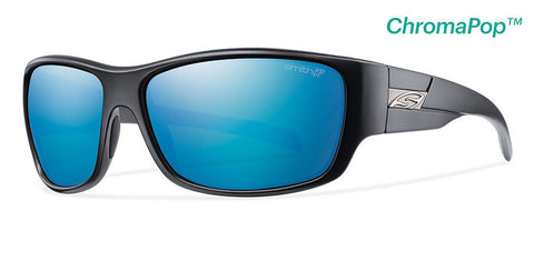 Smith Frontman Matte Black ChromaPop Polarized Blue Mirror Lens Sunglasses - SURF WORLD Florida