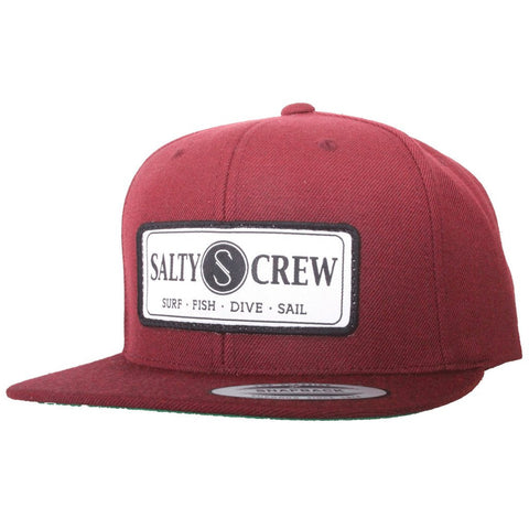 Salty Crew Rudder Hat Burgundy