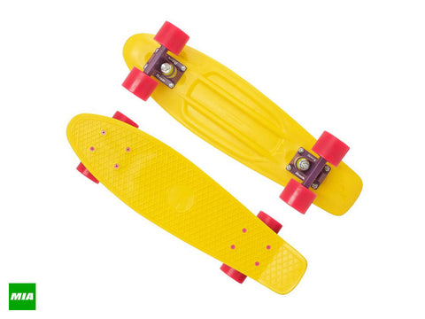 "PENNY 22"" Complete Yellow/ Purple/ Pink Skateboard 22YELLO - SURF WORLD Florida"