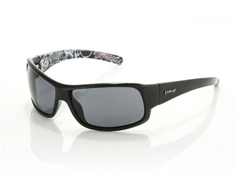 Carve Sonny Polarized Sunglasses - Black Grey / Matte Black