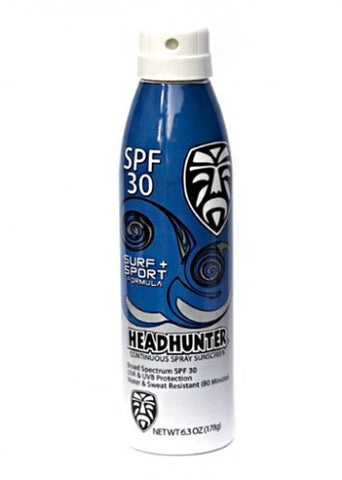 HSSSPY30MLG Headhunter Sunscreen Spray 30, 6oz - SURF WORLD Florida