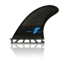 Futures Fins F4 Honey Comb Thruster Smoke Black F Series Fins - SURF WORLD Fort Lauderdale Florida