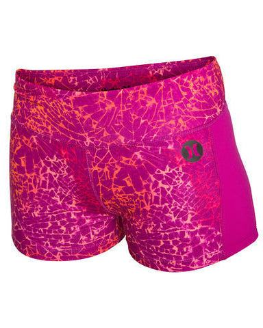 Hurley Dri Fit Compression Shorts Fuchsia Flash Pink - SURF WORLD Florida