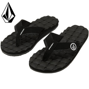 Volcom Recliner Men's Sandal - Black White SURF WORLD