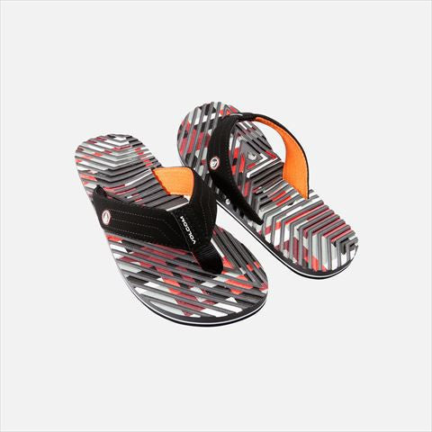 Volcom Fraction Men's Grey Orange Black Sandal V0811408GRC - SURF WORLD Florida