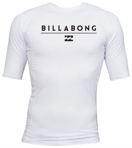 Billabong Boys' All Day SS White Lycra Rashguard BWLYAALSWHT - SURF WORLD