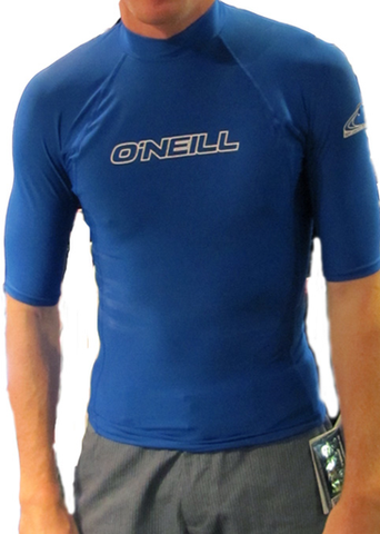 Oneill Basic Skins Blue Rash SS Tee - SURF WORLD  - 1