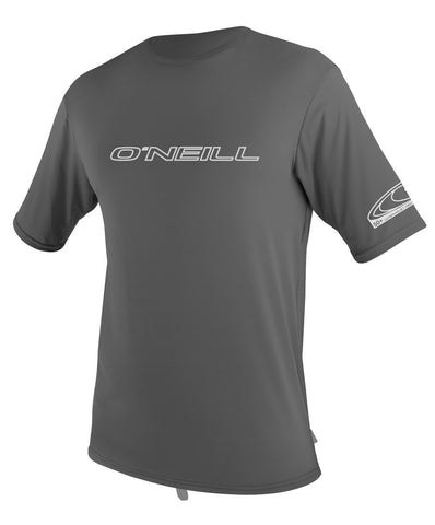 Oneill Basic Skins Rash SS Tee Graphite - SURF WORLD  - 1