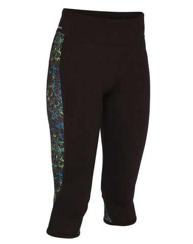 Hurley Dri Fit Crop Legging GAB0000540 BLK BLU - SURF WORLD Fort Lauderdale Florida