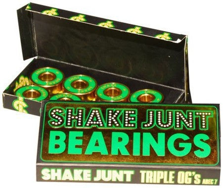 SHAKE JUNT TRIPLE OG'S A-7 Skateboard BEARINGS 1BSHJ0ABE700000 - SURF WORLD Fort Lauderdale Florida