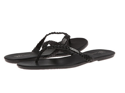 Womens Volcom Paradise Sandal- Black on Black W0811556 - SURF WORLD Florida