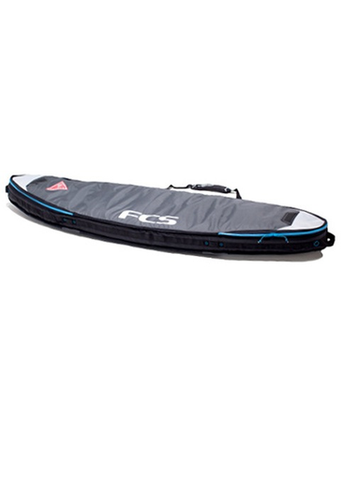 "FCS Double Travel Cover Fun Board 6'3"" Grey BTD063SBGRY - SURF WORLD Florida"