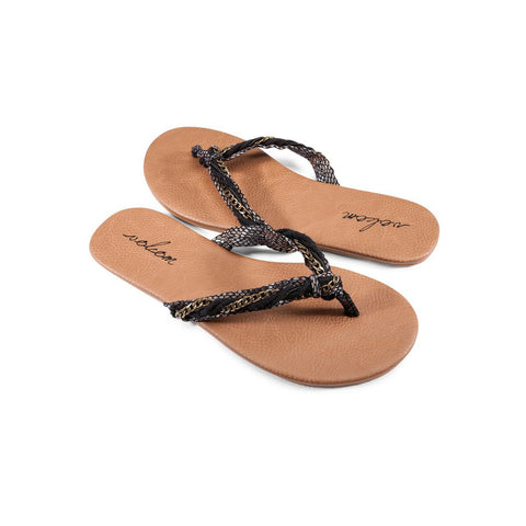 Volcom Beach Party Sandal Black Combo W0811551BLC - SURF WORLD Florida