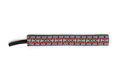 Banded Original Pink Red Geometric Headband 1404 - SURF WORLD Fort Lauderdale Florida
