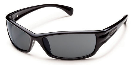 SunCloud Hook Black Polarized Gray Sunglasses SHKPPGYBLK - SURF WORLD Florida
