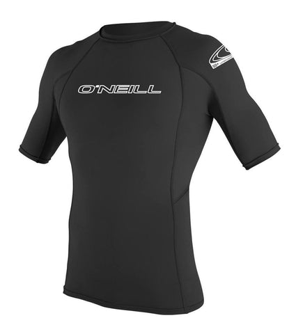Oneill Basic Skins S/S Crew rashguard Black top 3341-blk - SURF WORLD  - 1