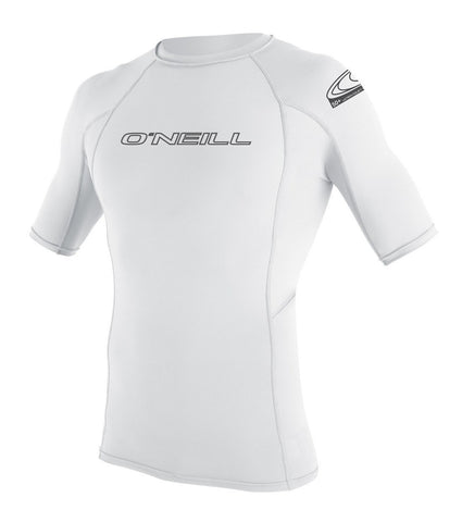 Oneill Basic Skins SS Rashguard Crew Tight Fit White - SURF WORLD  - 1