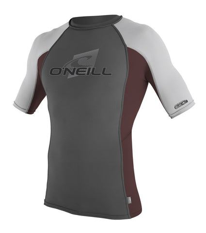 Oneill Skins S/S Graph/ Myers/ Lunar Crew Lycra Rash guard UV Sun Protection - SURF WORLD Fort Lauderdale Florida