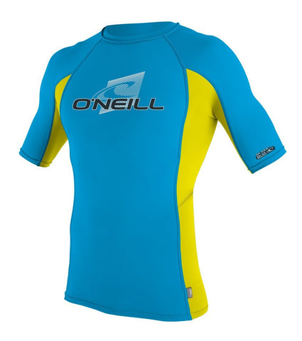 Oneill Skins SS Crew Sky / LW / Sky Lycra Rashguard UV Sun Protection - SURF WORLD Fort Lauderdale Florida