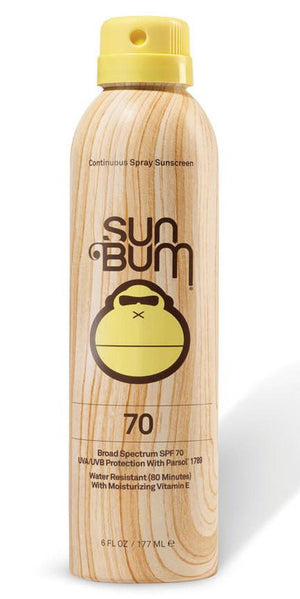 Sun Bum SPF 70 Spray 6oz Sunscreen 2042070 SURF WORLD