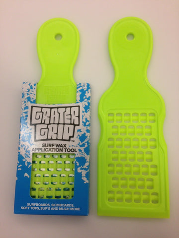 Grater Grip Green Surfboard Waxing Tool makes beads and bumps fast surf wax application tool - SURF WORLD  - 1