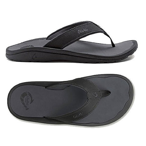 Olukai Ohana Men's Black / Dark Shadow Sandals 101104042 - SURF WORLD  - 1