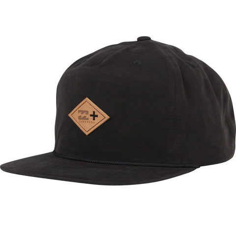 Billabong Capistrano Hat Waxed Canvas Five Panel Snapback Black MAHTDCAP - SURF WORLD  - 1