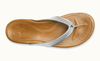 Olukai Womens Wana Silver Leather Sandal SURF WORLD