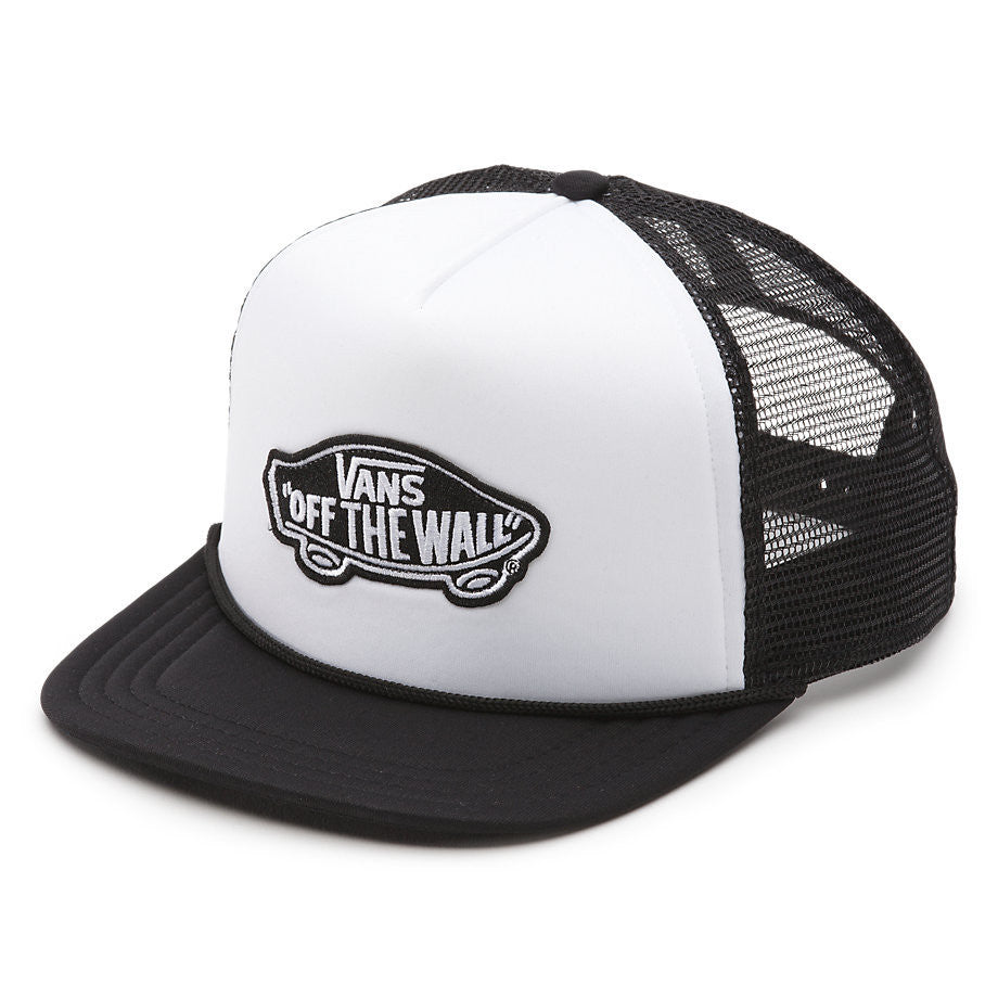 a81157c30c9 Vans Classic Patch Trucker Hat Black White VN00H2VYB2 - SURF WORLD Florida
