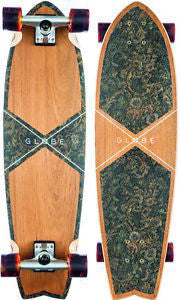 "Globe Chromatic Cruiser 33.1"" Teak Floral Couch Cruiser Skateboard - SURF WORLD Florida"